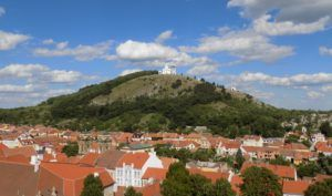 Mikulov town with the view on the Holy Hill