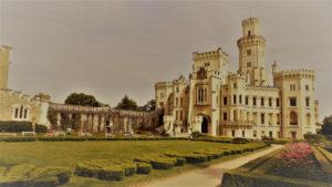 the Hluboká castle